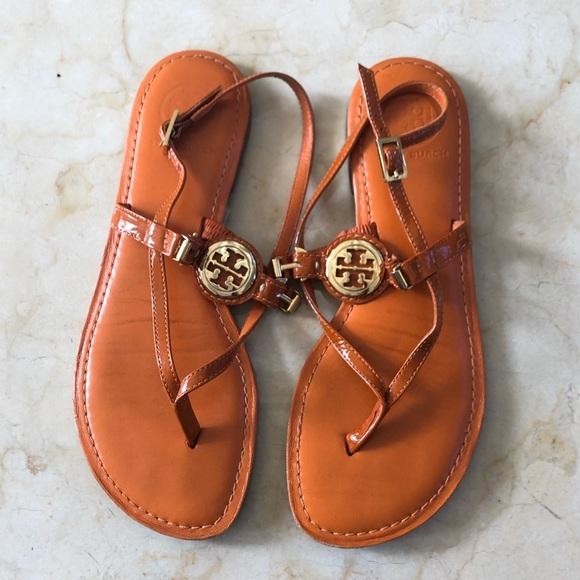 b09bed1f5a67 Tory Burch Miller Orange Thong Sandals Size 7. M 5be886e09fe4865e9c02fd7b